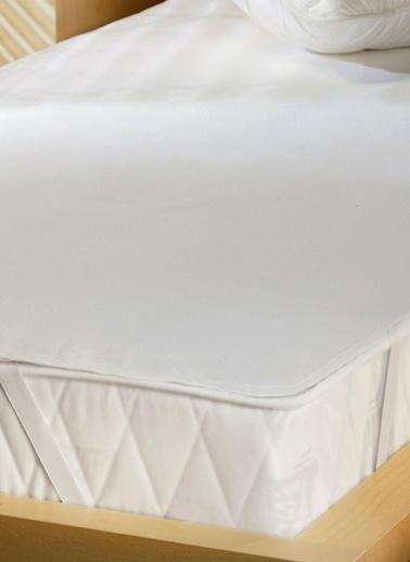 Alla Turca %100 Pamuk Tek Kişilik Sıvı Geçirmez Alez ( 100cm *200 cm )-Yatak Koruyucu Beyaz